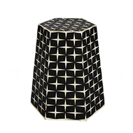 Aidan Gray Home Star Weave Tapered Hexagon Side Table/Stool