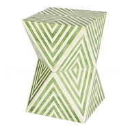 Aidan Gray Home Argyle Side Table/Stool, Pale Jade