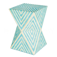 Aidan Gray Home Argyle Side Table/Stool, Bay Blue