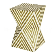 Aidan Gray Home Argyle Side Table/Stool, Deep Chartreuse