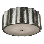 Aidan Gray Lighting Large Hammered Metal Star Ceiling Mount, Nickel FL101L NKL HOM Nickel