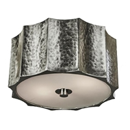 Aidan Gray Lighting Small Hammered Metal Star Ceiling Mount, Nickel FL101S NKL HOM Nickel