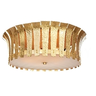 Aidan Gray Lighting Large Hammered Terrapin Ceiling Mount, Gold FL102L GLD HOM