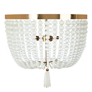 Aidan Gray Lighting Large Chestnut Ceiling Mount FL104L Frosted Glass and Antique Brass