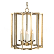 Aidan Gray Home Lighting Chan Geo Collection Look # 2 Small Chandelier, Gold