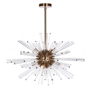 Aidan Gray Home Lighting Kepler Chandelier in Antique Brass