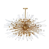 Aidan Gray Home Lighting Goliath Star Chandelier in Antique Brass