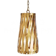 Aidan Gray Lighting Modern Basket Weave Pendant - Antique Brass L542 AB PEN HOM Antique Brass