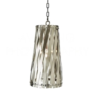 Aidan Gray Lighting Modern Basket Weave Pendant - Stainless Steel L542 SS PEN HOM Stainless Steel