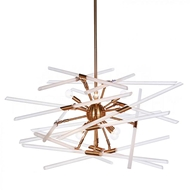 Aidan Gray Home Lighting Solitude Chandelier, Brass