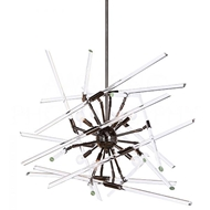 Aidan Gray Home Lighting Solitude Chandelier, Black