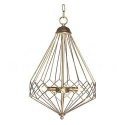 Aidan Gray Lighting Chan Geo Collection Look # 9 Chandelier, Gold L591 G CHAN HOM Gold