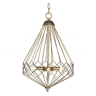 Aidan Gray Home Lighting Chan Geo Collection Look # 9 Chandelier, Gold