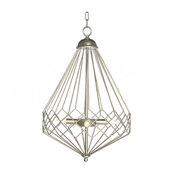 Aidan Gray Lighting Chan Geo Collection Look # 9 Chandelier, Silver L591 S CHAN HOM Silver