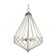 Aidan Gray Home Lighting Chan Geo Collection Look # 9 Chandelier, Silver