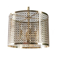 Aidan Gray Home Lighting Mod X Drum Chandelier - Antique Brass