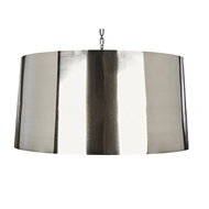 Aidan Gray Lighting Large Metal Drum Pendant in Mirrored Nickel L712L MN PEN HOM Mirrored Nickel