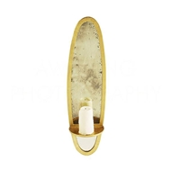 Aidan Gray Lighting Bronx Candle Sconce Small, in Gold WC75S GLD Gold