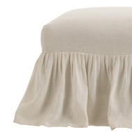 Arteriors Home Furnishings Avebury Bench Slipcover Only With Off-White Finish In Natural
