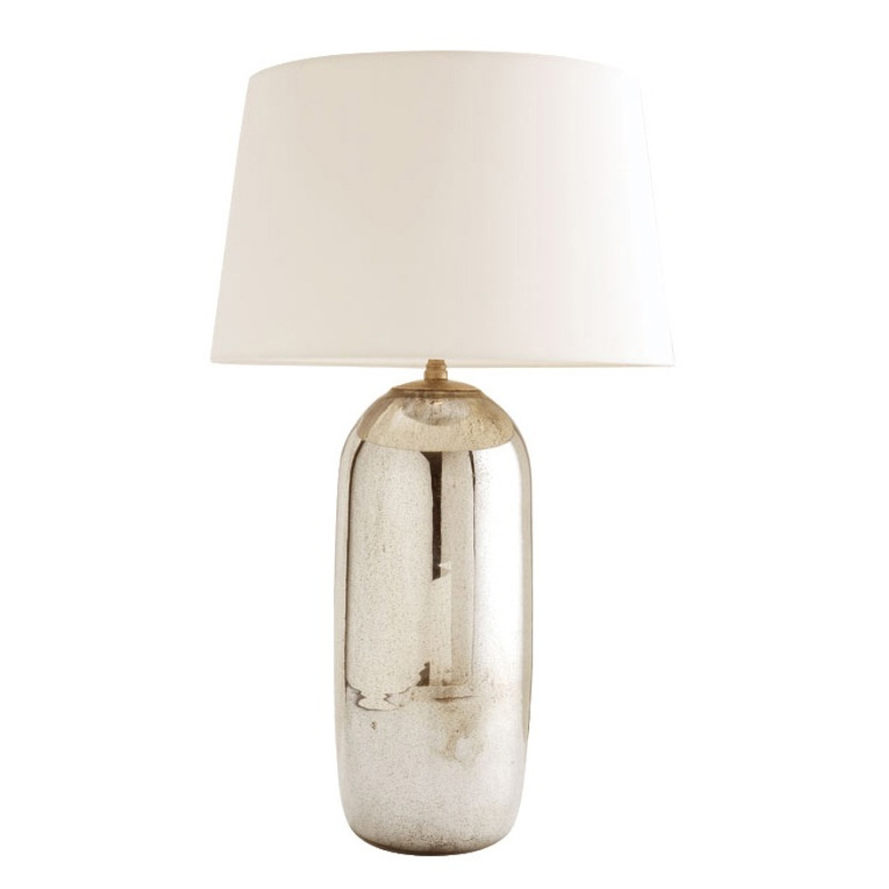 Arteriors Lighting Anderson Table Lamp Of Glass With Antique Mercury Finish  In Gray ...