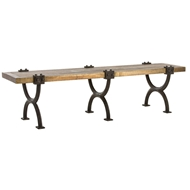 Arteriors Home Atlas Bench With Aged Brass Finish