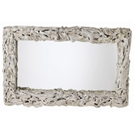 Arteriors Wall Decor Bodega Mirror With Distressed Whitewash Finish