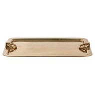 Arteriors Home Accessories Bordeaux Large Tray With Antique Brass Finish In Yellow