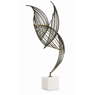 Arteriors Home Accessories Cai Sculpture With Natural Iron Finish In Gray