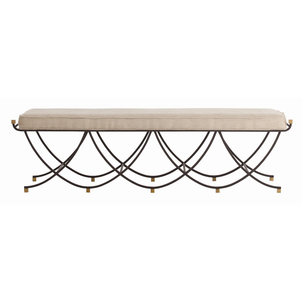 Arteriors Home Furnishings Felice Large Bench With Black Finish In Black