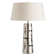 Arteriors Lighting Gabby Table Lamp With Polished Nickel Finish In Gray