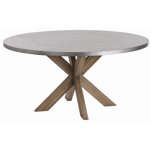 Arteriors Home Furnishings Halton Dining Table With Galvanized Finish In Gray