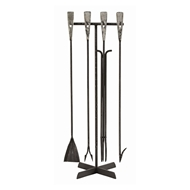 Arteriors Home Accessories Henry Fireplace Tool Set With Black Waxed Finish In Black