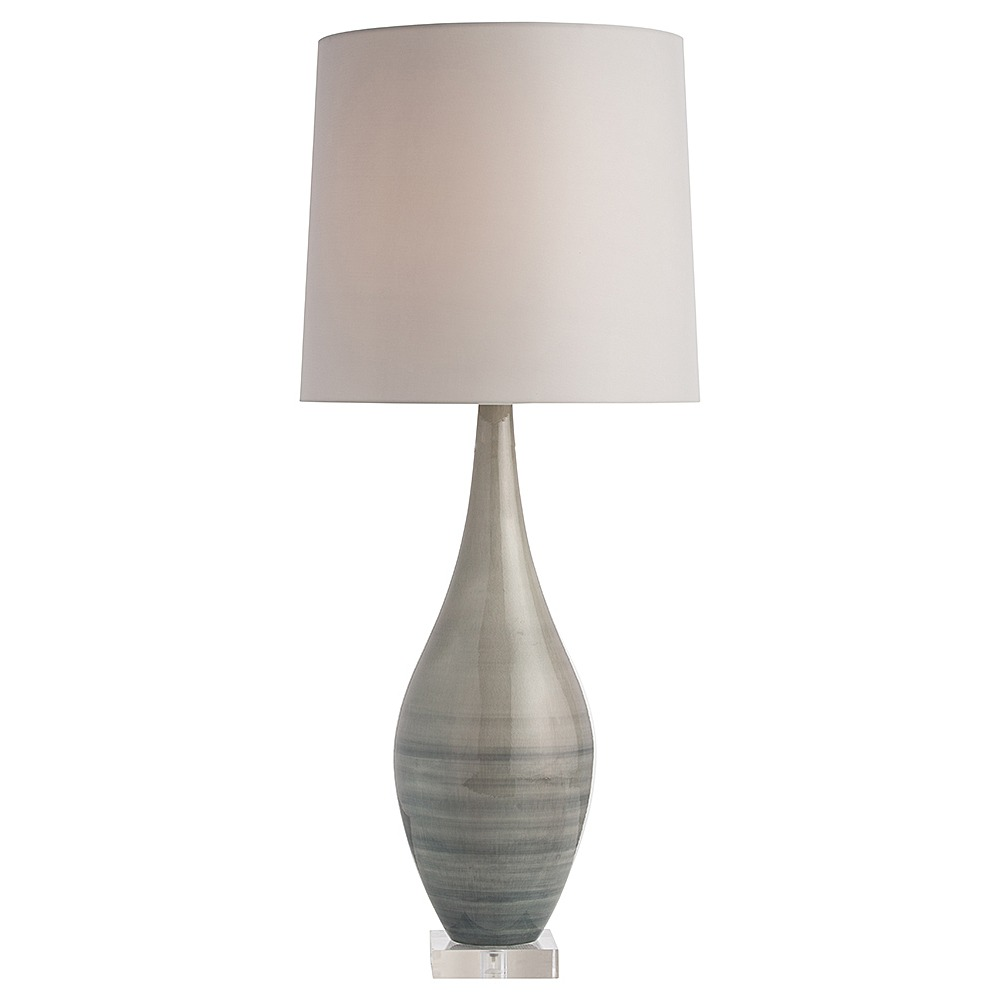 Beautiful Arteriors Hunter Table Lamp In Porcelain With Gray Striped Finish In Gray  ...
