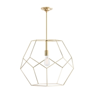 Arteriors Lighting Mara Large Pendant With Polished Brass Finish In Yellow