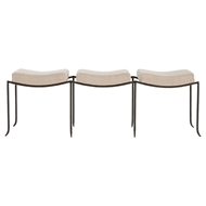 Arteriors Home Furnishings Mosquito Large Bench With Natural Iron Finish In Gray