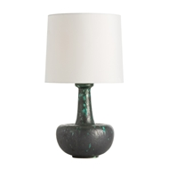Arteriors Lighting Pacific Table Lamp With Turquoise/Gunmetal Reactive Finish