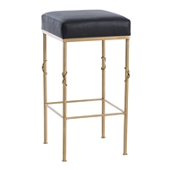 Arteriors Home Furnishings Palmer Bar Stool With Brushed Brass Finish In Yellow