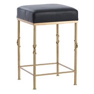 Arteriors Home Furnishings Palmer Counter Stool With Brushed Brass Finish In Yellow