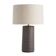 Arteriors Lighting Paula Table Lamp In Porcelain With Charcoal Crackle Finish With In Gray