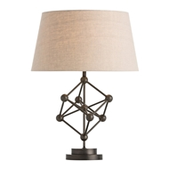 Arteriors Lighting Ridley Table Lamp In Iron With Natural Iron Finish In Gray