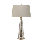 Arteriors Lighting Silver Camel Lamp With Distressed Mercury Finish