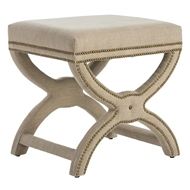 Arteriors Home Tennyson Stool With Natural Finish