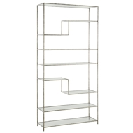 Arteriors Home Accessories Worchester Bookshelf With Silver Leaf Finish In Gray