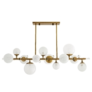 Arteriors Lighting Troon Chandelier 89330 Steel