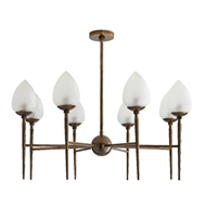 Arteriors Lighting Tumen Chandelier 89674 Steel