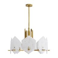 Arteriors Lighting Utopia Chandelier 89336 Steel