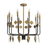 Arteriors Lighting Uzma Chandelier 86024 Iron