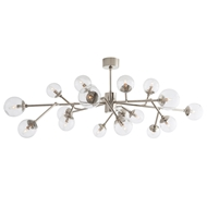 Arteriors Lighting Dallas Chandelier 89032 Gray - Steel