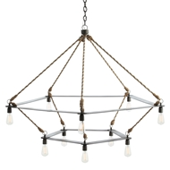 Arteriors Lighting McIntyre Two Tiered Chandelier 84176 Gray - Iron