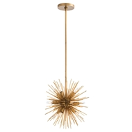 Arteriors Lighting Mini Zanadoo Chandelier - Antique Brass